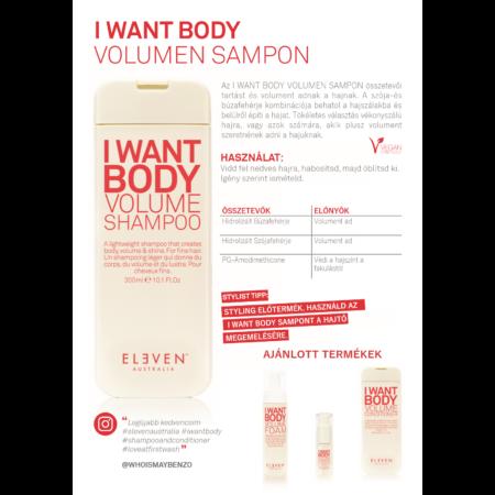 I Want Body - volumennövelő sampon 300 ML