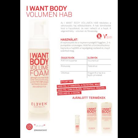 I Want Body - volumennövelő hab 200 ML